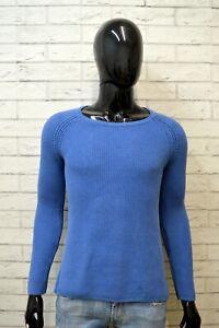 Maglione-Uomo-TOMMY-HILFIGER-Taglia-S-Pullover-Cotone-Cardigan-Sweater-Blu-Man