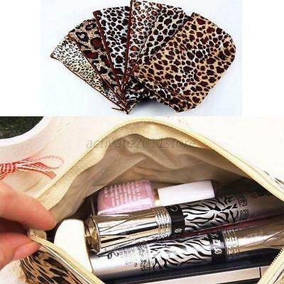 Leopard Makeup Cosmetic Bag Case Organizer Handbag Purse Random Multi-style