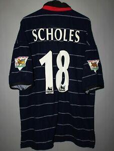MANCHESTER-UNITED-1999-2000-AWAY-FOOTBALL-SHIRT-JERSEY-UMBRO-18-SCHOLES