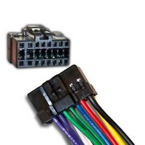 panasonic wiring harness ebay wire harness for select panasonic stereos 16 pin black plugs into  select panasonic stereos 16 pin