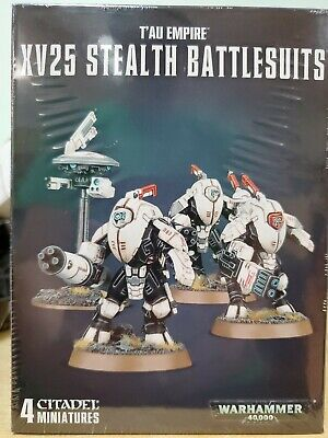 Warhammer 40k Tau XV25 Stealth Battlesuits  NEW