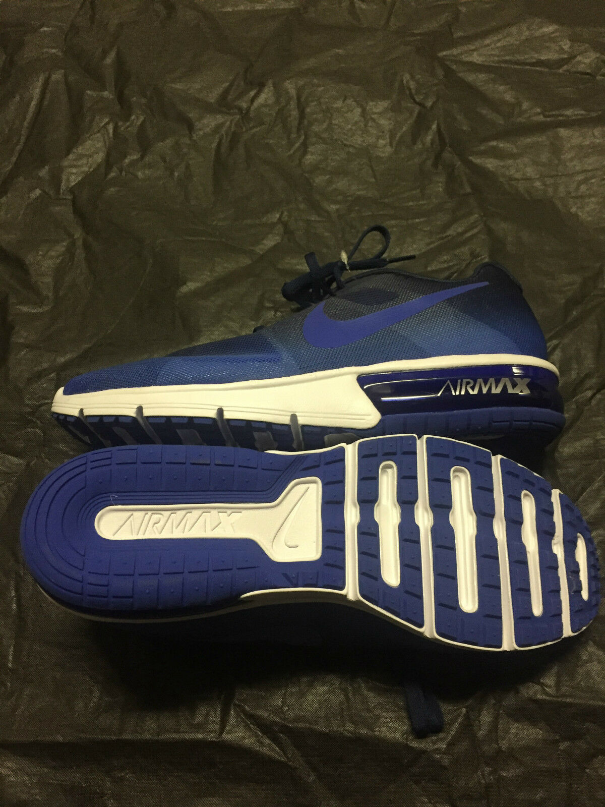 Mens Nike Air Max Sequent Blue Running Shoes US Size 10.5 Brand New