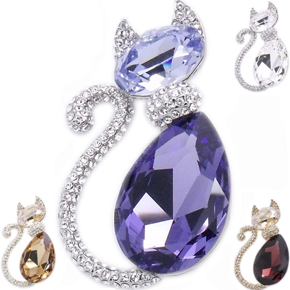 015d826ee Luxury Cat Kitten Kitty Pets Pin Brooch Costume Jewelry Christmas Gift 18k  GP 2