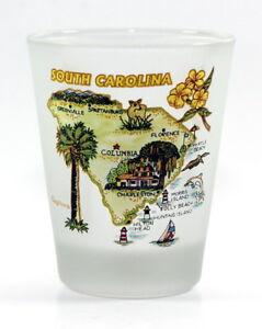 SOUTH-CAROLINA-MAP-FROSTED-SHOT-GLASS-SHOTGLASS