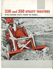 Ih International 330 Amp 350 Utility Tractor Amp Implement Brochure Loader Backhoe