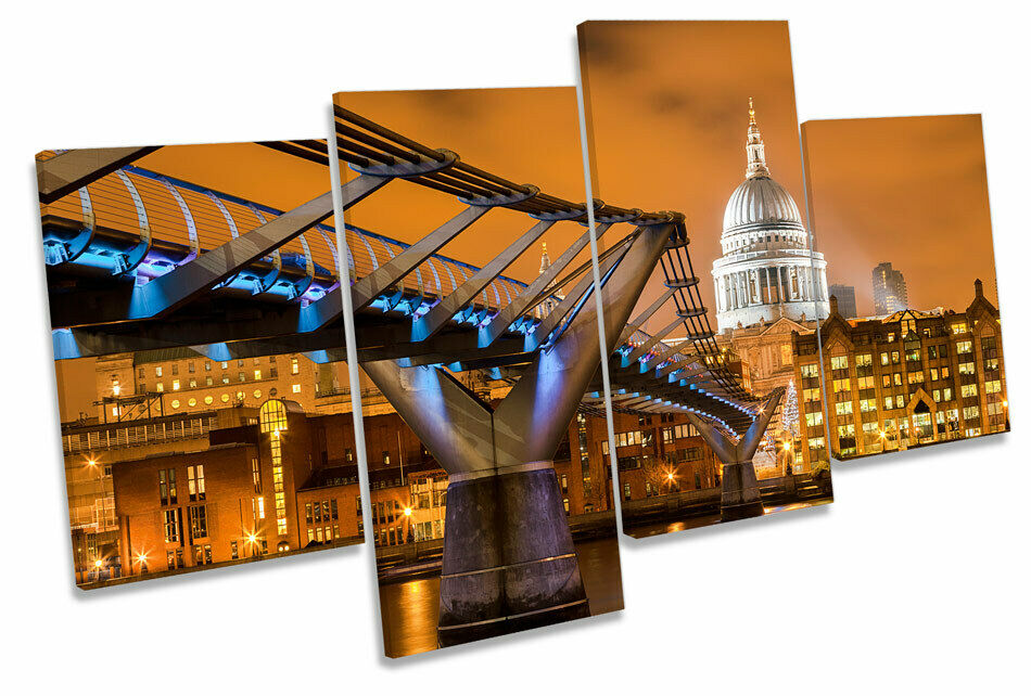 St Pauls Cathedral London Sunset MULTI CANVAS WALL ART Picture Print