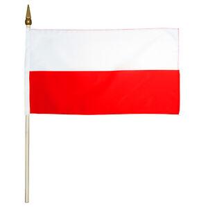 Stockflagge Fahne Flagge Polen 30 x 45 cm