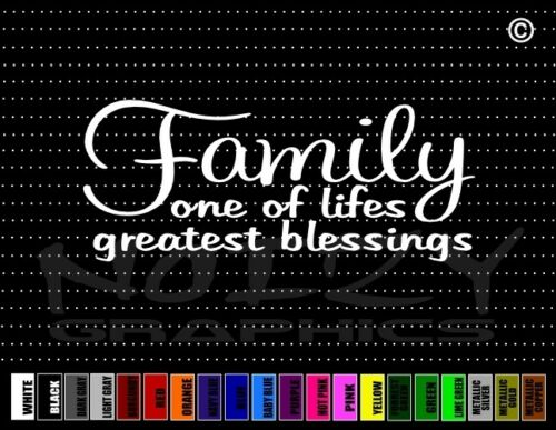Family One Of Lifes Great Blessing Cute Mom Dad Car Decal Window Vinyl Sticker