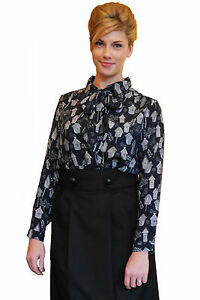 Navy-blue-long-sleeve-blouse-with-quirky-bird-box-pattern