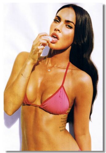 Poster Megan Fox Movie Star Room Club Art Wall Cloth Print 225