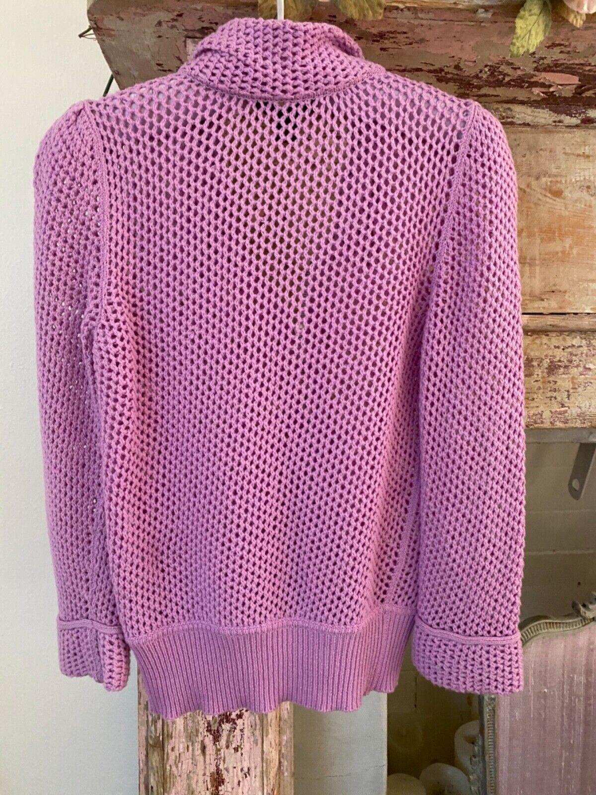 Authentic LOUIS VUITTON Purple Lilac Zip Cashmere… - image 5