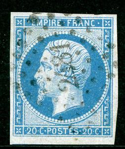 Timbre-de-France-Classique-Napoleon-N-14Ae-obliteration-PC-2481-sur-lilas