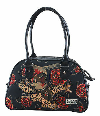 Liquor Brand Tasche Rockabilly Oldschool bolso tattoo bowling sac Doggy rose FTW
