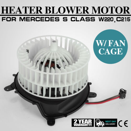 OEM Heater AC Blower Motor w// Fan Cage for Mercedes W220 AMG CL S Class Can