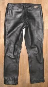 Slightly-Hip-034-Germot-034-Damen-Leather-Jeans-Biker-Trousers-IN-Black-Approx