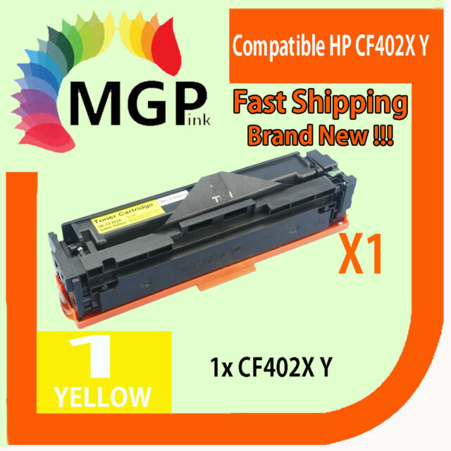 1 x Yellow Toner CF402X toner for HP Laserjet Pro M252 M277 M252dw M277n M252n
