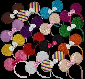 Minnie mouse ears hairband fancy dress party hen night 14 glitter colours