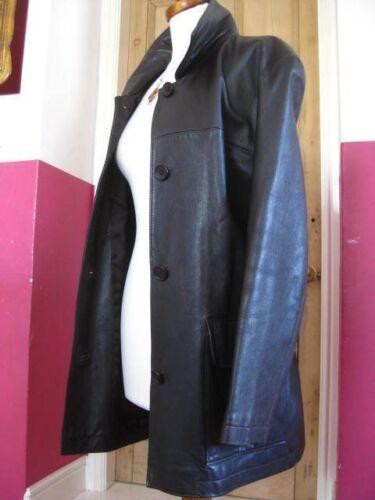 Trench Uk cappotto giacca Large taglia marrone 16 prossimo in Signore vera Line Long 18 pelle OxW16FnO8w