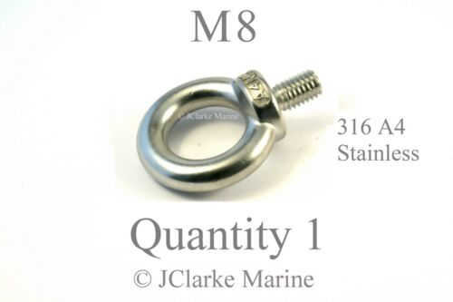 M8 Eye bolt DIN 580 made from marine stainless steel 316 A4