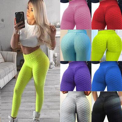 Details about  /Womens Yoga Gym Anti-Cellulite Leggings Fitness Ladies Butt Lift Elastic Pants