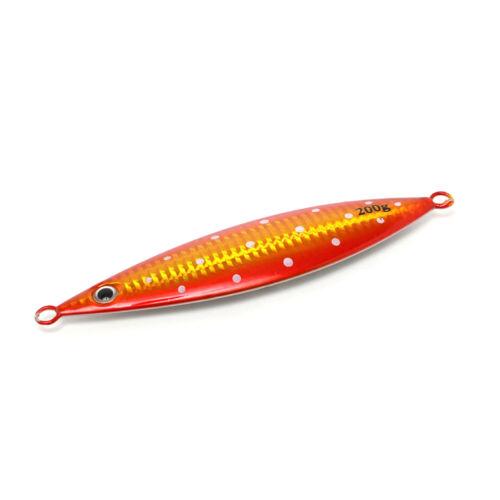5PCS Slow jig Fishing Deep sea Ocean Boat Metal Jigging Jigbait Spoon 20g-200g