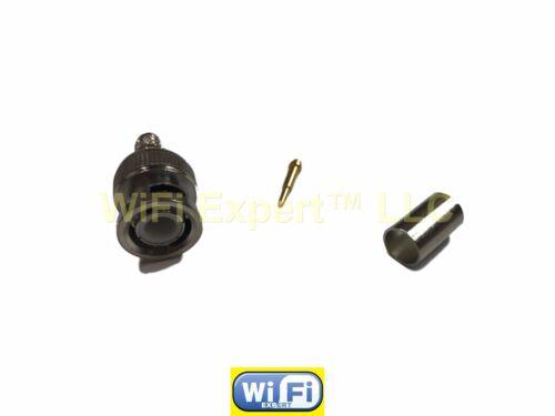 1 x BNC Male Plug crimp for LMR240 RFC240 LMR240U Cable Straight RF connector US