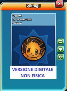 POKEMON TCG Online Moneta Coin Token Eevee Marrone ITA VERSIONE DIGITALE
