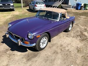 1974 MGB convertible sports car