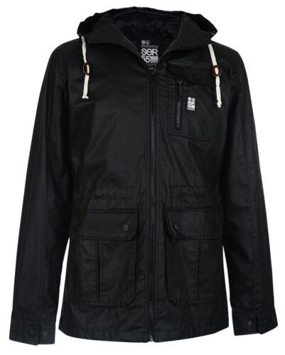 Crosshatch Men/'s Shayter Hooded Cotton Jacket S M L XL XXL Blue /& Black