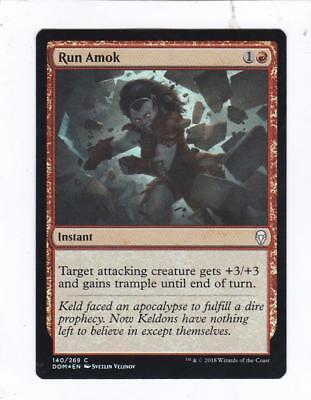 Run Amok x4 NM Magic the Gathering Dominaria