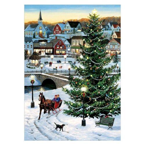 Taladro Completo del árbol de Navidad Hágalo usted mismo 5D puntada cruzada artesanías de casa de pintura de diamante Kits