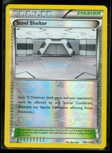 Pokemon STEEL SHELTER 105//119 XY Phantom Forces  Rev Holo MINT