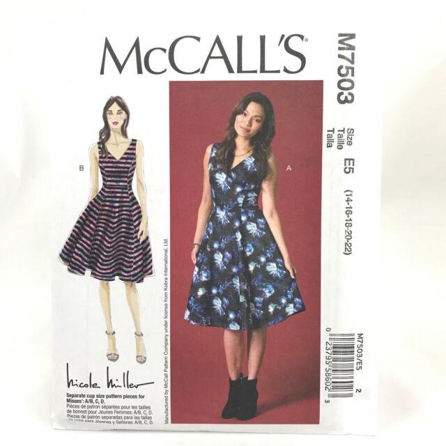 Mccalls Pattern M7503 Misses Dresses Sz 14 22 Uc Ff Ebay