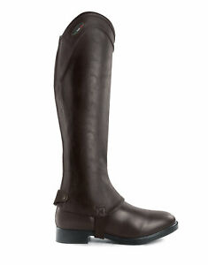 Brogini-Adults-MARCONIA-Synthetic-Stretch-Gaiters-Chaps-Black-Brown-Std-Tall