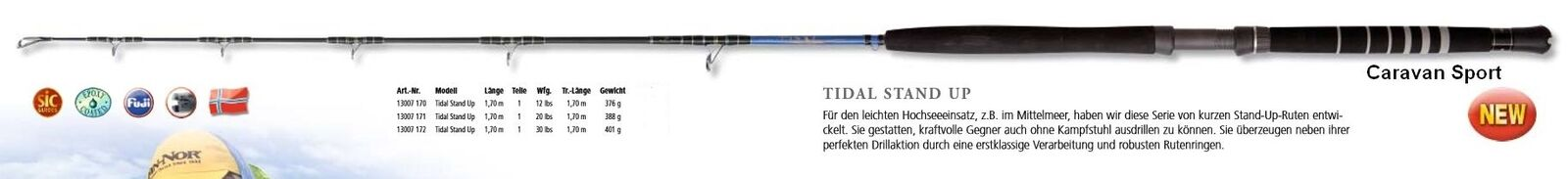 CANNA DA PESCA TIDAL STAND UP 30 LB FIN FIN FIN NOR 1,70 MT TRAINA ROD FIN-NOR MARE a6983f