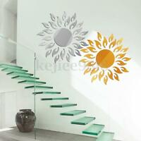 Acrylic 3D Sun Mirror Effect Wall Sticker Decal Room Art Mural Decor Removable