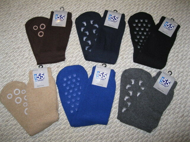 Cotton With Rubbe excell 6 Pairs of Womens Non Skid//Slip Diabetic Medical Socks