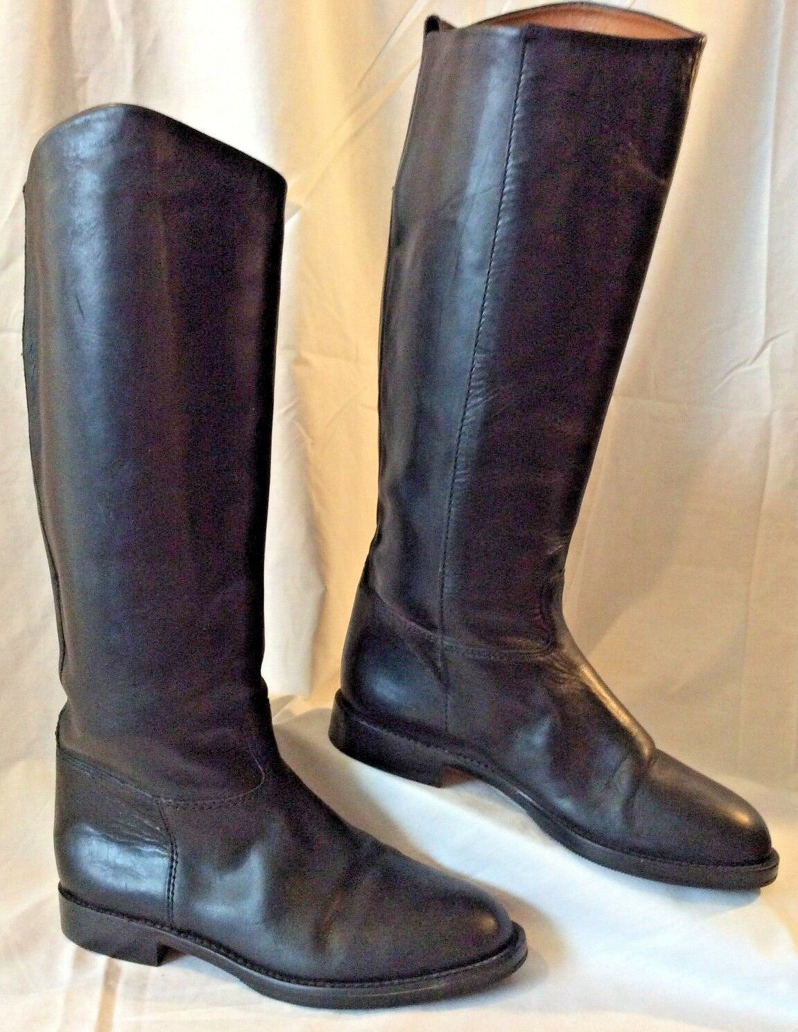 Waverly 5W Negro Cuero Inglés Ecuestre botas de montar a  caballo de campo VGUC 15-1 2  De Alto  productos creativos