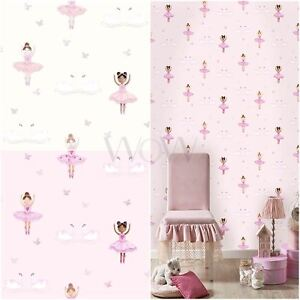 Image Is Loading HOLDEN BALLERINA DANCER GLITTER WALLPAPER KIDS GIRLS BEDROOM