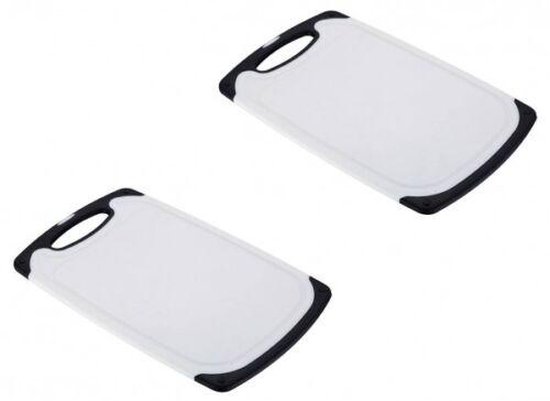 2 Kunststoff Schneidbretter 31cm schwarz-weiß antibakteriell