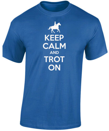 Keep Calm Trot On Horse Equestrian Kids Unisex T-Shirt 8 Colours by swag XS-XL
