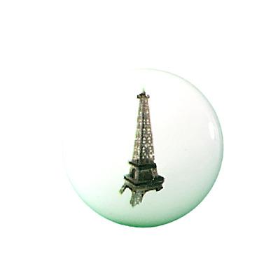 Large Vintage Paris Clock Ceramic Cupboard Door Knob Drawer Pull Novelty Handle