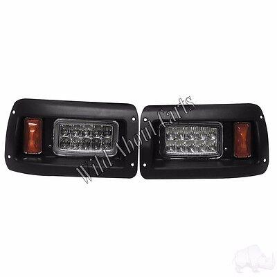 Golf Cart Rhox Adjustable Headlights With Bezels Led
