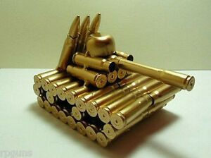 New-Model-Tank-made-from-Bullet-Casings-Plane-Unique-Rare-Large