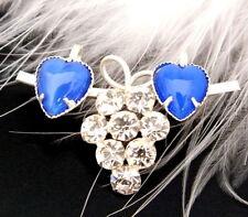 Strassbrosche - Crystal/Blau Opal - Unikat aus Gablonz/Böhmen - swa297