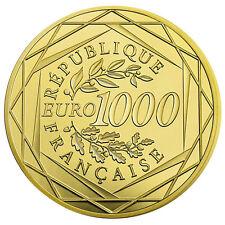 Tauschaktion 1000 Euro Gold gegen 1000 Euro Frankreich Hahn 2016 im Etui