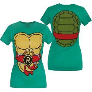 Teenage-Mutant-Ninja-Turtles-Raphael-Costume-Junior-Women-039-s-T-Shirt