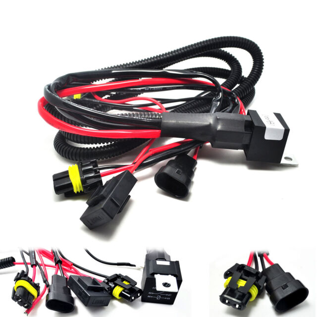 9005 9006 relay wiring harness for hid conversion kit add on fog rh ebay com