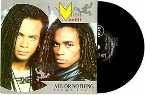 MILLI-VANILLI-ALL-OR-NOTHING-DREAMS-TO-REMEMBER-7-034-45-RECORD-PIC-SLV-1989