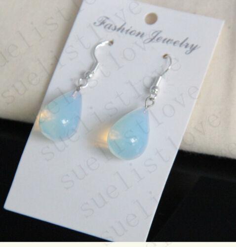 Opalite opale d/'Eau Goutte à Goutte Crystal Quartz Pendentif Boucles d/'oreilles Lady 1 paire